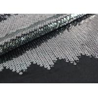 Cheap Embroidered Mesh Lace Fabric With Silver Sequin , Bridal Lace Fabric By The Yard for sale
