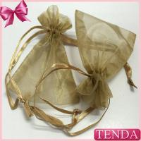 China Wholesale Retail Cheaper Jewelry Jewel Transparent White Silver Gold Drawstring Organza Pouches on sale