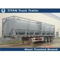 Cheap Q235B 40ft Newport tank containers tanker trailer for Africa market , crude oil trailers for sale