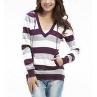 Cheap OEM fashion lady V-collar long sleeve pullover sweater for sale