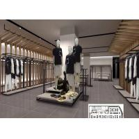 China Luxury Clothing Store Display Racks With Shelves , Dress Shop Display Stands on sale
