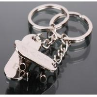 Cheap personalized anniversary gifts for couples skateboard shaped couple key chains for sale