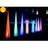 Cheap Colorful Changing Inflatable Advertising , LED Inflatable Light Tower 3mH Party Event Cone for sale