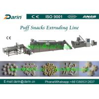 China Double screw extruder cereal grain puffing machine with high stable per - formation on sale