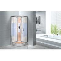 Cheap KPN2064 Customized Circle Glass Shower Cabin , Curved Corner Shower Units for sale