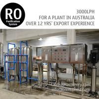 Cheap 3TPH Australia Ordered Commercial RO Water Reverse Osmosis System for sale