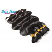 Cheap Black / Highlighted Kinky Curl / Deep Wave 100% Human Hair Bulk For Black Women for sale