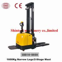 Cheap 1.6 Ton Electric Pallet Stacker With 3000mm Standard Lift Height And Narrow Legs for sale