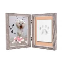 China Paw Print Keepsake Frame Ornament , Non toxic Soft Light Pet Picture Frames on sale