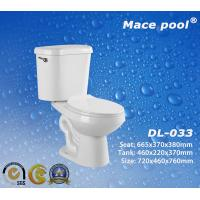 Cheap Bathroom Sanitary Ware Siphonic Two Piece Toilets Wc (DL-033) for sale