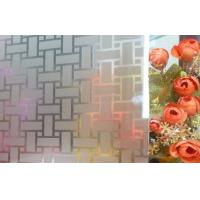 Cheap 3660 * 2250mm Acid Etched Pattern Glass Does not peal or discolor for sale