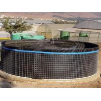 Cheap 20000L PVC Fish Farming Tank with Lid, Flexible Tarpaulin Wire Mesh Tank For Agricultural for sale