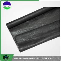 Cheap 210g Black High Strength Circle Loom Polypropylene Woven Geotextile Filter Fabric for sale