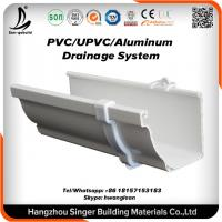 vinyl plastic building material pvc rain gutter system for rain drain with certificate of pvc. Black Bedroom Furniture Sets. Home Design Ideas