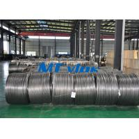 Cheap TP304L / 1.4306 Small Diameter Stainless Steel Coiled Tubing For Cable Industry for sale