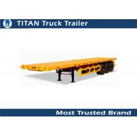 Cheap T700 steel Strong trailer frame 40foot Flatbed Semi Trailer with 12 pcs Contact lock for sale