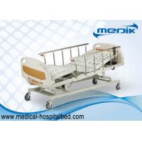 Cheap Anti-Rust Intensive Care Beds , Semi Automatic Medical Bed With Castors for sale