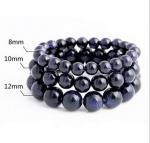 Cheap Blue sandstone natural crystal bracelet Wishing star stone lovers hand string bracelet for sale