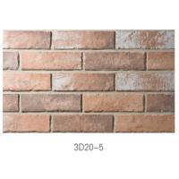 Cheap 3D20-5 Ancient Thin Clay Brick For Outside Wall Installation Easily wholesale