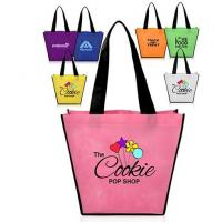 China Full Color Printing Logo Eco Promotion Corporate Custom Tote Shopping Non Woven Bag Eco friendly Biodegradable Compostab on sale
