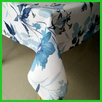 Buy cheap Blue flowers printed design table tablecloths for daily life used of made in China from wholesalers
