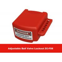 Cheap OEM Red Color 3 Lock Holes 210G Adjustable Flanged Ball Valve Lock Out for sale