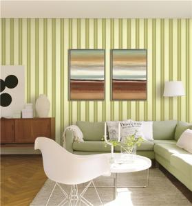 Cheap 70cm width fireproof waterproof mould proof stripe styles PVC vinyl wallpaper for sale
