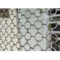 SS304 Decorative Ring Metal Wire Mesh For Partition Wall Fabrication