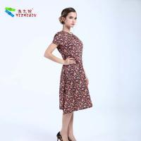 Cheap YIZHIQIU Cotton Material Floral Printed Pattern Dress for sale