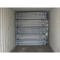 China Steel props 2.0m-3.6m for formwork slab construction, prop with open thread on sale