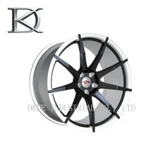 Black Deep Dish Rims Replica Luxury Forged Wheels For Motorcycle 17 Inch