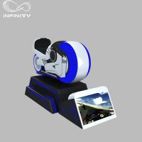 Cheap 1 Person Online Race 9D VR Motorcycle Car Driving Simulator Black Or White Color for sale