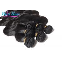 Cheap 7A Grade Natural black Peruvian Human Hair Extensions Wefts For Ladies wholesale