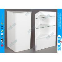 China Customized Modern White Shop Display Cabinets , Open Corner Filler on sale