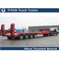Cheap Hydraulic low bed trailer , low profile 60 ton 4 axle 40ft gooseneck trailer for sale