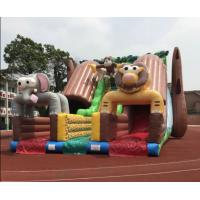 Cheap Giant Outdoor Inflatable Forest Animal Dry Slide Huge Inflatable Monkey Elephant Dry Slide For Commercial Sale for sale