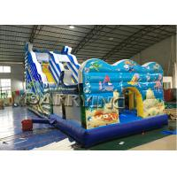 Cheap Seaworld Giant Commercial Inflatable Slide With Inflatable Bounce House Hand Printing for sale