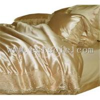 Cheap fashion silk bedding set for sale