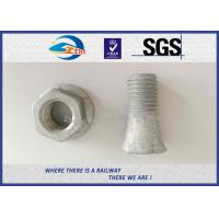 Cheap Hot Dip Galvanized Railway Bolt for 9116 Rail Clip , T Anchor Bolts M16 M20 M22 for sale
