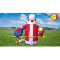 Cheap Holiday Inflatable Cute Santa Claus  for Christmas , PVC Inflatable Santa ASTM Standard for sale