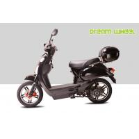 Cheap Black 25KM - 32KM / H Electric Gear Motor Scooters 500W 16 X 3.0 Disc Brake with CE, RoHS for sale