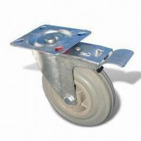 Cheap Caster/Gray Rubber Plastic Core Caster with 40 to 150kg Loading Capacity for sale