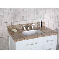 China 37 Inch Vanity Sink Tops , Granite Bathroom Countertops 3 Faucet Hole 4 Tailgate on sale
