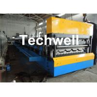 Cheap Galvanized Steel Double Layer Forming Machine For Roof Wall Cladding With HRC50 - 60 Heat Treatment for sale