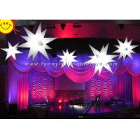 Cheap LED Lighting Stars Inflatable Party Decorations With High Air Tightness , Digital Printing for sale