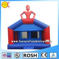 Cheap Popular Spider Man Kids Commercial Inflatable Bouncers Blue Durable for sale