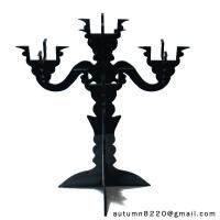 Cheap CH (16) clear fake glass candelabra wholesale