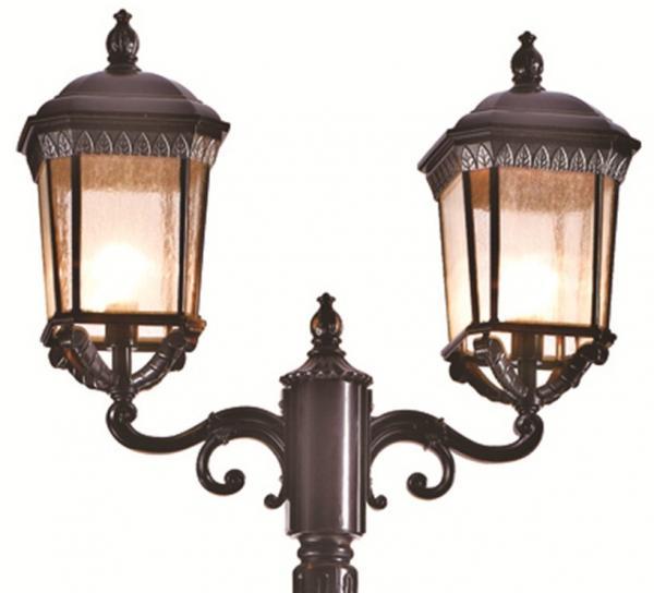 Red Brown Classic Decorative Outdoor Lighting Fixtures Garden Light Pole Lamp Ip65 Of