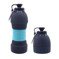 China 580ML Collapsible Silicone Water Bottle , Sports Compressible Water Bottle on sale