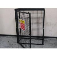 Cheap Black Powder Coating Gas Cylinder Cages Flexible / Foldable Easy Install for sale